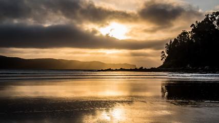 Golden hour waterscape