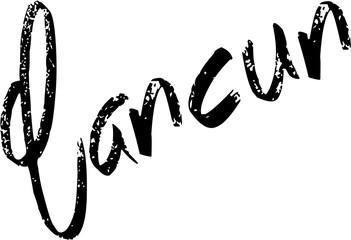 Cancun text sign illustration