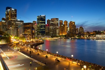 Circular Quay and City at Dusk, Sydney, New South Wales, Australia, Oceania