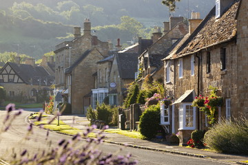 Cotswold cottages, Broadway, Worcestershire, Cotswolds, England, United Kingdom, Europe