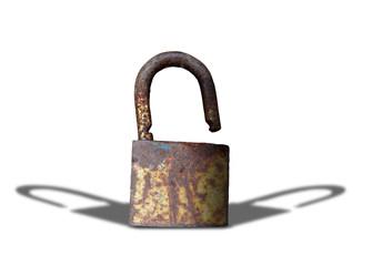 key lock isolated on white background