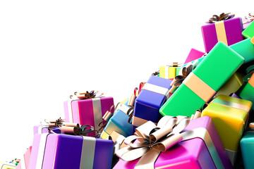 Infinite gift boxes 3d rendering