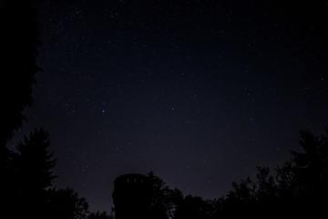 Schlossturm mit Sternenhimmel