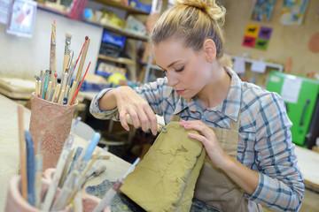artist preparing to make art