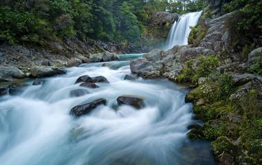 Tawhai Falls, Tongariro National Park, UNESCO World Heritage Site, North Island, New Zealand, Pacific