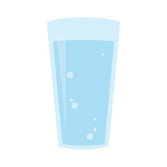 Glass of mineral water icon. Flat design. Vector illustration