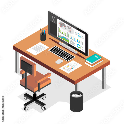 workplace office workspace business workspace in the office fichier vectoriel libre de. Black Bedroom Furniture Sets. Home Design Ideas