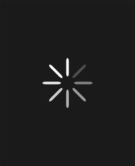 Circle loading process symbol.