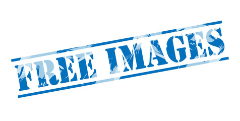 free images blue stamp on white background