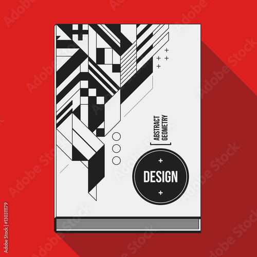 Modern Book Cover : Quot book cover design template with abstract geometric