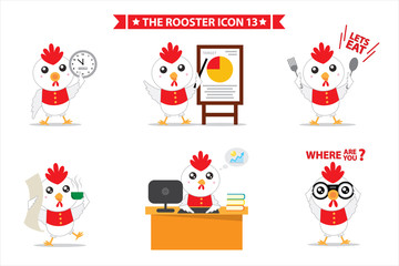 rooster icon character