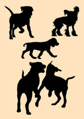 Dog pet animal silhouette. Good use for symbol, logo, mascot, web icon, sign, or any design you want.