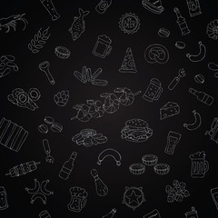 Vector seamless pattern of beer icons