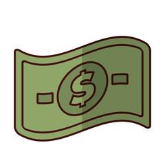 cash money bill icon image vector illustration design