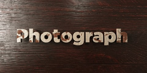 Photograph - grungy wooden headline on Maple  - 3D rendered royalty free stock image. This image can be used for an online website banner ad or a print postcard.