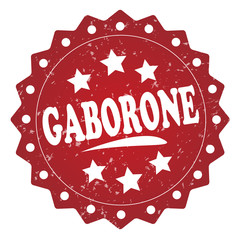 gaborone grunge stamp on white background