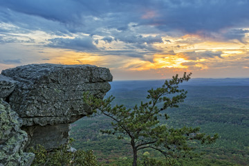 Sunset At Cheaha Overlook 4