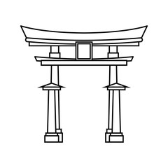 Japanese pagoda temple icon vector illustration graphic design