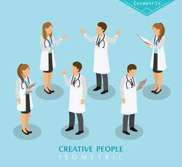 people isometric hospital and medical care