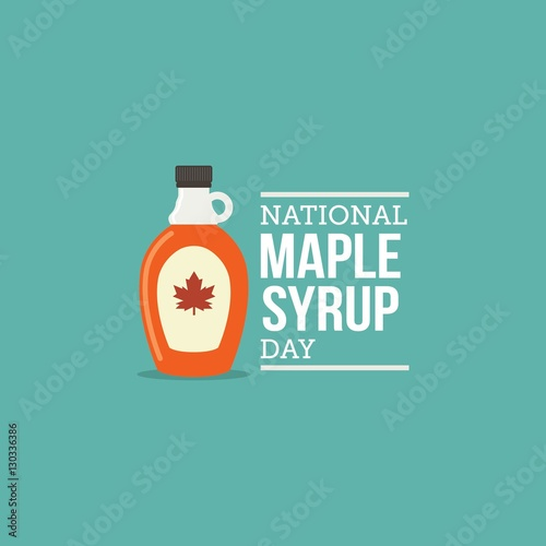 """""""National Maple Syrup Day Vector Illustration."""" Stock ..."""