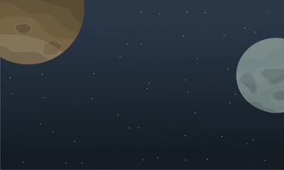 Illustration of outer space landscape