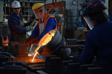 cast iron in progress