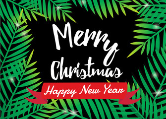 Merry Christmas with Palm frame.