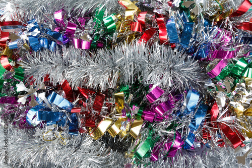 Quot colorful christmas garland festive tinsel background