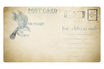 Vintage postcard design.