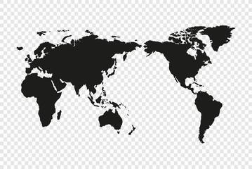 Wall Mural - Political World Map Illustration