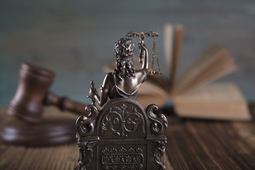 Law concept. Statue of justice