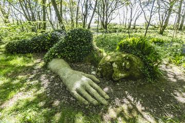 A walk through the Lost Gardens of Heligan, Pentewan, near Mevagissey, Cornwall, England, United Kingdom, Europe