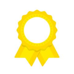 Seal ribbon yellow vector
