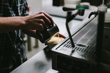 coffee being made in espresso machine
