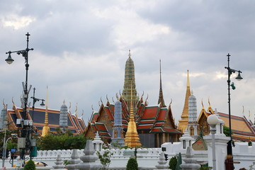 Wat pra kaew Public Temple Grand palace at , Bangkok Thailand