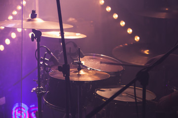 Music photo background, rock drum set
