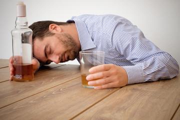 Man alcohol addicted feeling bad