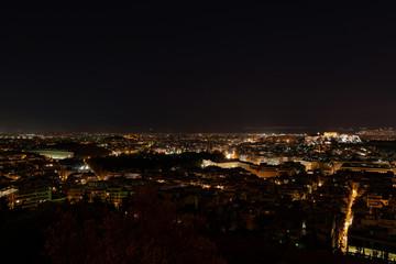 Athens Greece, panoramic night view