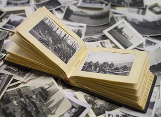 altes fotoalbum mit bildern vom krieg 1940