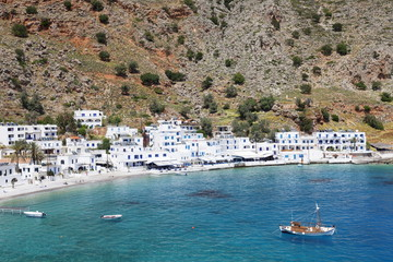 Loutro, South Crete, Crete, Greek Islands, Greece, Europe