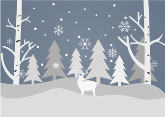 Merry Christmas and Happy New Year on a grey background