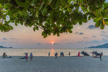 Sunset time in Patong beach