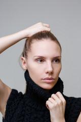 Portrait of model in studio