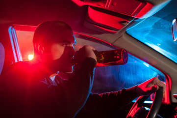 Drunk man is caught driving under alcohol