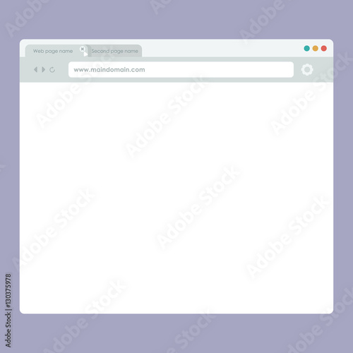 flat style ui browser the net web page template user interface