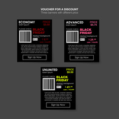 Set tariffs. interface for the site. ui ux vector banner for web app. Pastel pricing table, banner, order, box, button, list and bullet with plan for website in flat design. Abstract for Black Friday