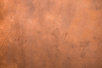 Copper painted surface. Background