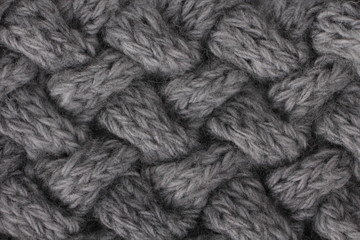 knitted texture, grey knit cables