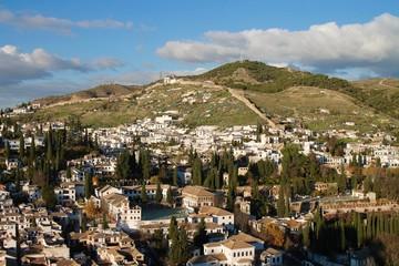 Granada - Vista sul quartiere Albaicin - Alhambra Palace