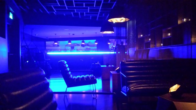 lounge bar light blue technology abstract